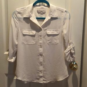 LOFT Button Down Blouse